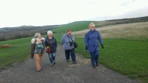 Strollers form skirmish line in Herrington Park